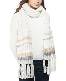 INC Mixed-Striped Muffler Scarf, Created for Macy's