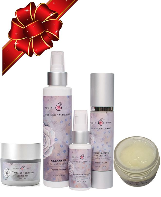 Apple Rose Beauty Ultimate Acne and Aging Organic Skincare System, 4 oz.