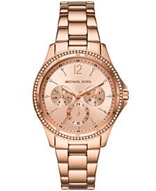 Michael Kors Women's Riley Rose Gold-Tone Stainless Steel Bracelet Watch 39mm