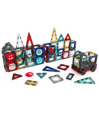 FAO Schwarz Toy Magnetic Tile and Truck Set 32pcs