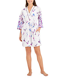 Charter Club Printed Wrap Robe, Created for Macy's