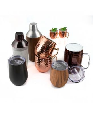 Black Faceted Moscow Mule Mug