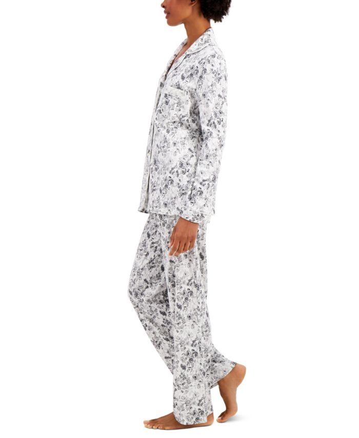 Charter Club Soft Brushed Cotton Pajama Set, Created for Macy's & Reviews - Bras, Panties & Lingerie - Women - Macy's