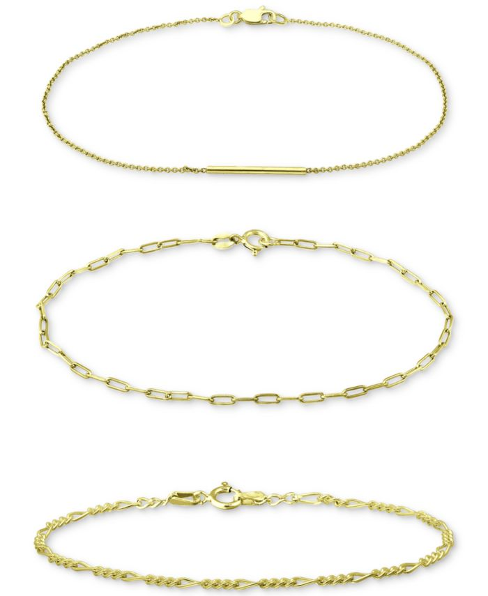 Giani Bernini 3-Pc. Set Chain Link Bracelets, Created for Macy's & Reviews - Jewelry & Watches - Macy's