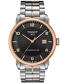 Tissot Men's Swiss Automatic Luxury Powermatic 80 Two-Tone Stainless Steel Bracelet Watch 41mm