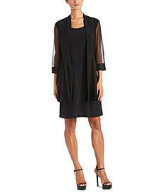 R & M Richards 2-Pc. Embellished Mesh Jacket & Dress Set