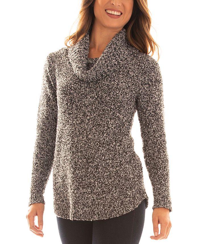 BCX - Juniors' Cowl-Neck Boucle Sweater