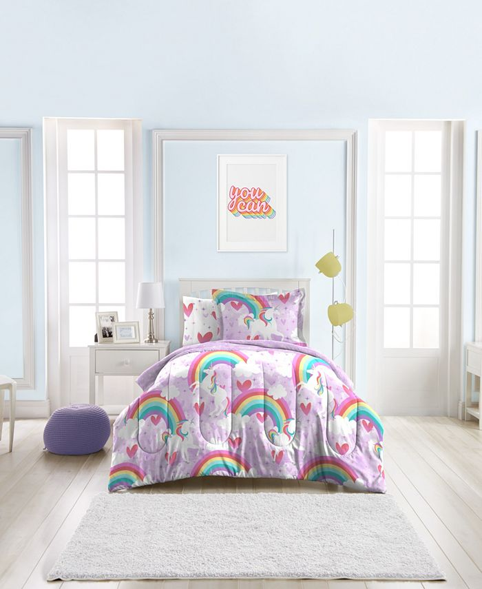 Dream Factory - Unicorn Rainbow 7-Piece Full Bedding Set