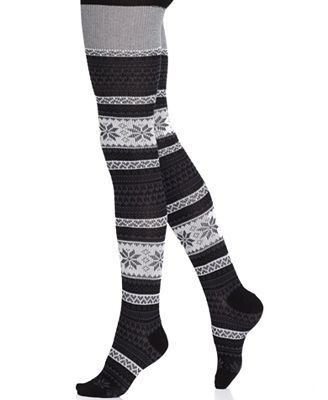 Product Features Blue Pink Reindeer Fair Isle Snowflake pattern printed leggings for PLUS.