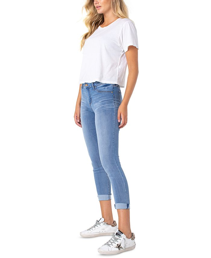 Celebrity Pink - Juniors' Cuffed Cropped Skinny Jeans