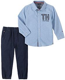 Tommy Hilfiger Baby Boys Woven Shirt Twill Jogger Set