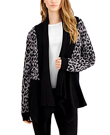 Fever Printed Waterfall Cardigan