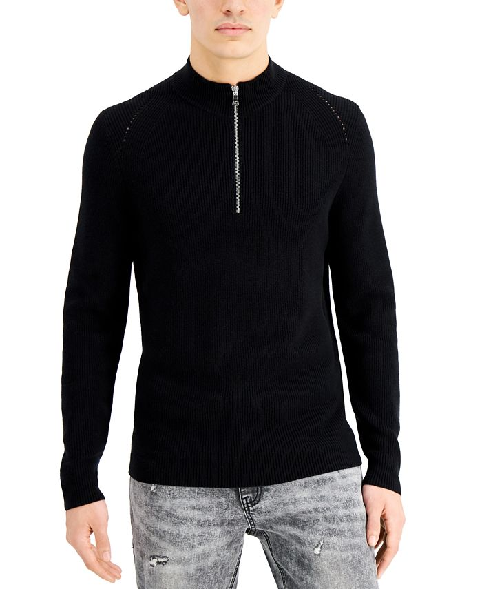 INC International Concepts - Men's Howie Quarter-Zip Sweater