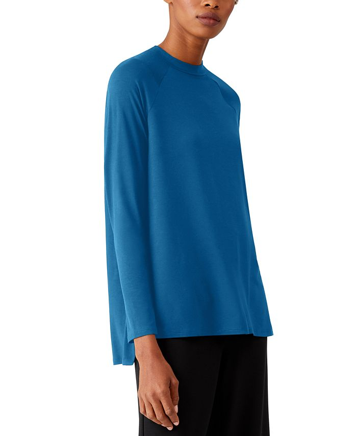 Eileen Fisher - Side-Vent Crewneck Top