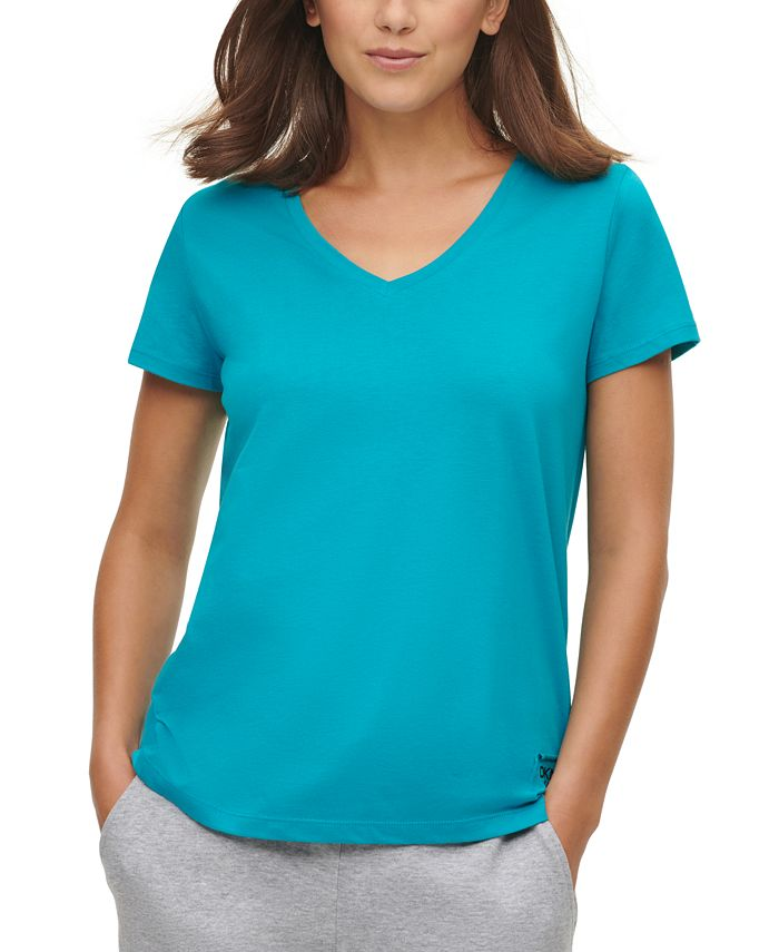 DKNY Jeans - Juniors' V-Neck T-Shirt
