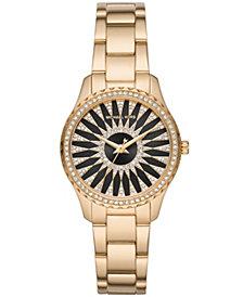 Michael Kors Women's Layton Gold-Tone Stainless Steel Bracelet Watch 33mm
