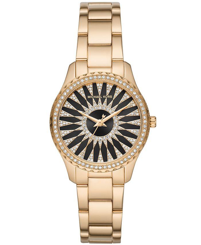 Michael Kors - Women's Layton Gold-Tone Stainless Steel Bracelet Watch 33mm MK6892