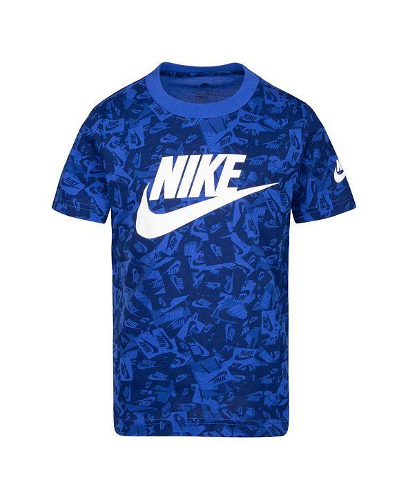 Nike Toddler Boys Printed Logo Graphic T-Shirt