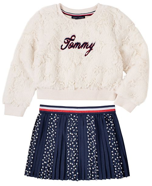 Tommy Hilfiger Toddler Girls 2 Piece Top and Skirt Set & Reviews - Sets &  Outfits - Kids - Macy's