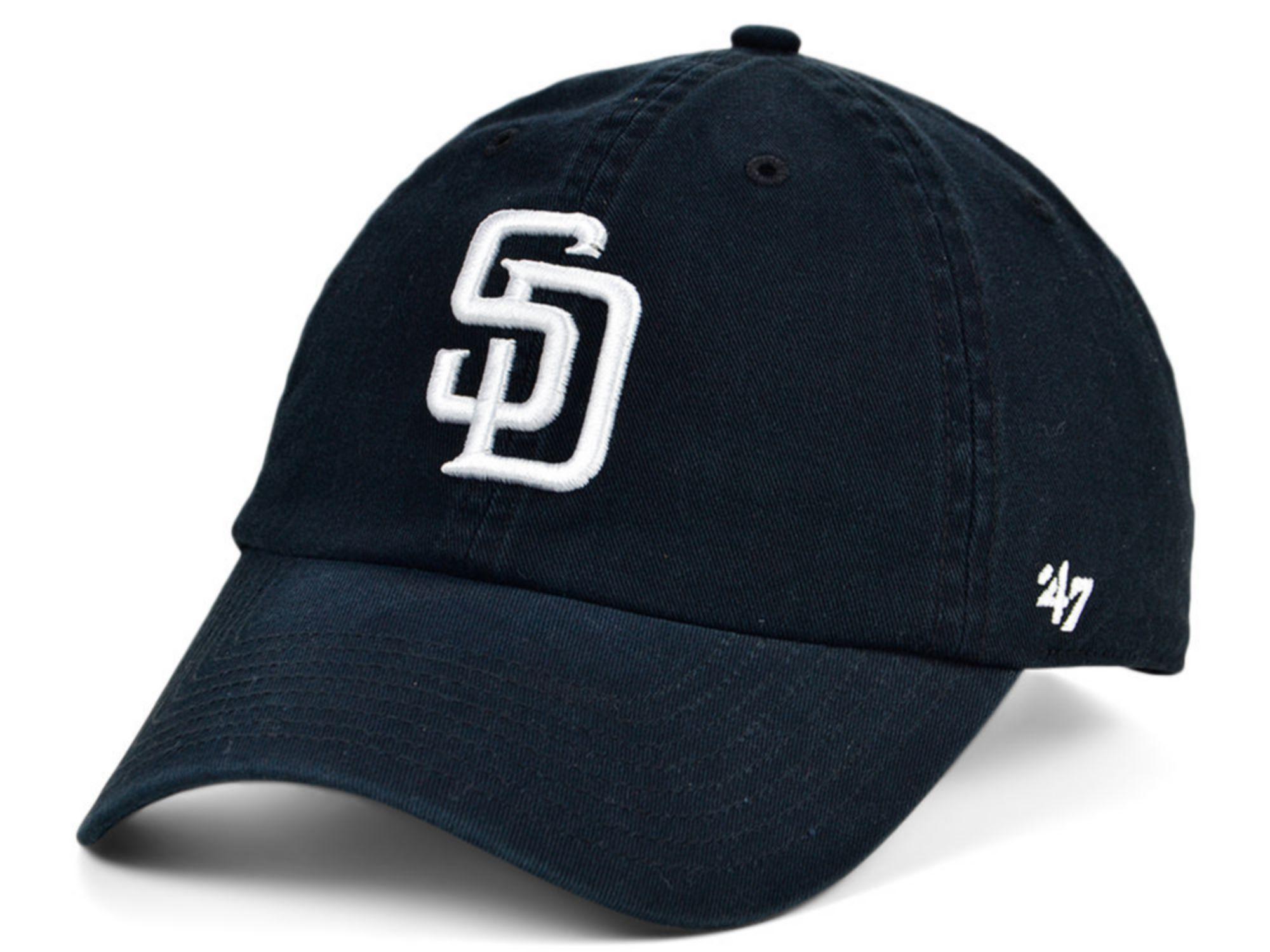 '47 Brand San Diego Padres Black White CLEAN UP Cap & Reviews - MLB - Sports Fan Shop - Macy's