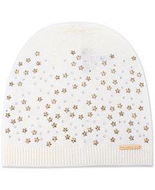 Michael Michael Kors Star-Embellished Beanie Hat