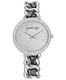 Women's Kendall + Kylie Braided Snakeskin Stainless Steel Strap Analog Watch 40mm