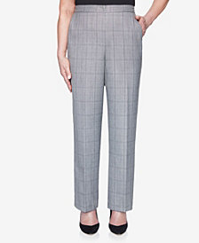 Alfred Dunner Women's Madison Avenue Plaid Proportioned Short Pant
