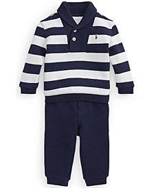 Ralph Lauren Baby Boys Fleece Top and Jogger Set