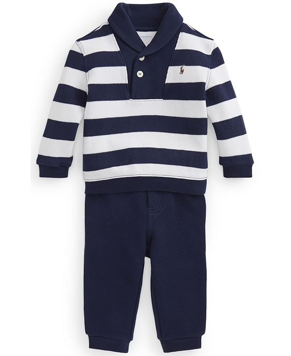 Polo Ralph Lauren Ralph Lauren Baby Boys Fleece Top and Jogger Set