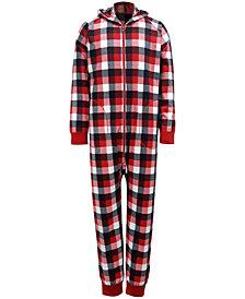 Matching Men's Buffalo Check Onesie Family Pajamas, Created for Macy's
