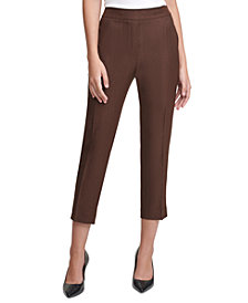 Calvin Klein X-Fit Elastic-Back Pants