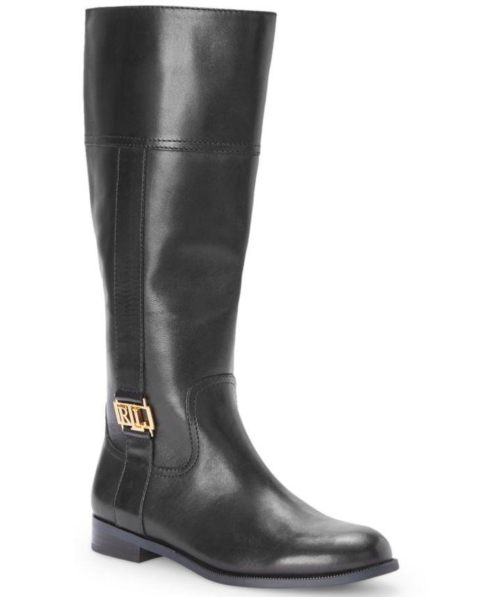 Lauren Ralph Lauren Women's Berdie Riding Wide-Calf Boots & Reviews - Boots - Shoes - Macy's