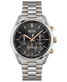 HUGO BOSS Men's Chronograph Champion Stainless Steel Bracelet Watch 44mm