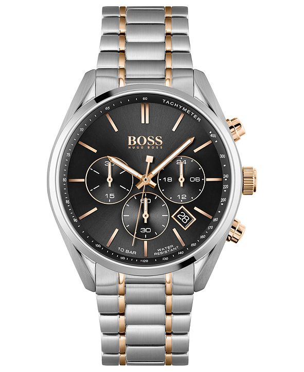 BOSS HUGO Men's Chronograph Champion Stainless Steel Bracelet Watch 44mm