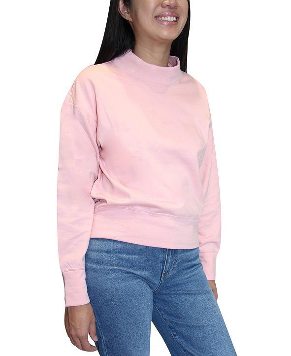 Crave Fame Juniors Mock Neck Sweatshirt