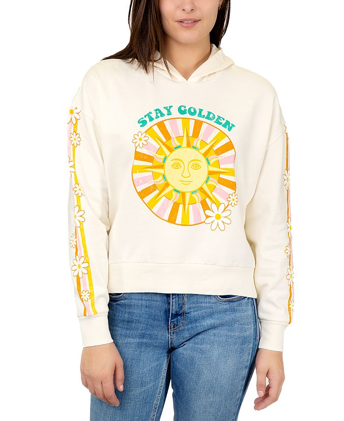 Rebellious One - Juniors' Stay Golden Graphic Hoodie Sweatshirt