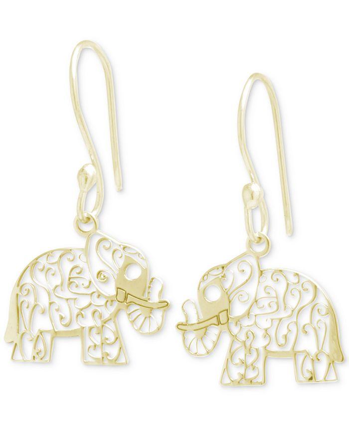 Giani Bernini - Filigree Elephant Drop Earrings