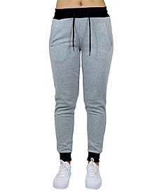 Galaxy by Harvic Women's Loose Fit French Terry Jogger Sweatpants