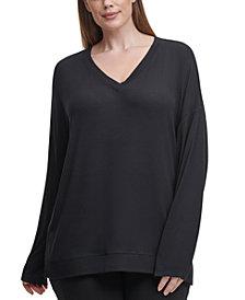 Calvin Klein Performance Plus Size V-Neck High-Low Top