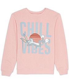 Warner Brothers Juniors Bugs Bunny Graphic Print Sweatshirt