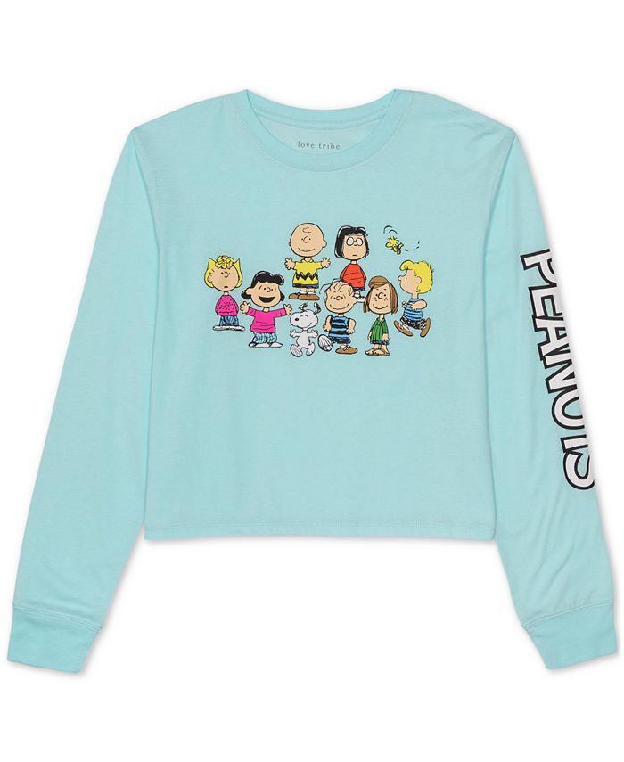 Peanuts - Juniors'  Long-Sleeved Graphic T-Shirt