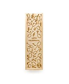 Wine Glass Pattern Wood Wine Box