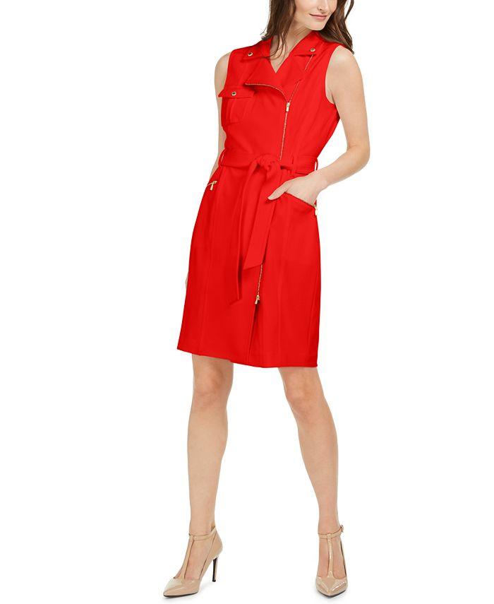 Calvin Klein - Moto Sheath Dress