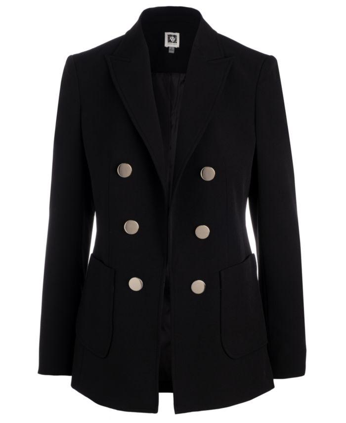 Anne Klein Faux Double-Breasted Jacket & Reviews - Jackets & Blazers - Women - Macy's