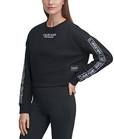 Calvin Klein Performance Cropped Logo Top