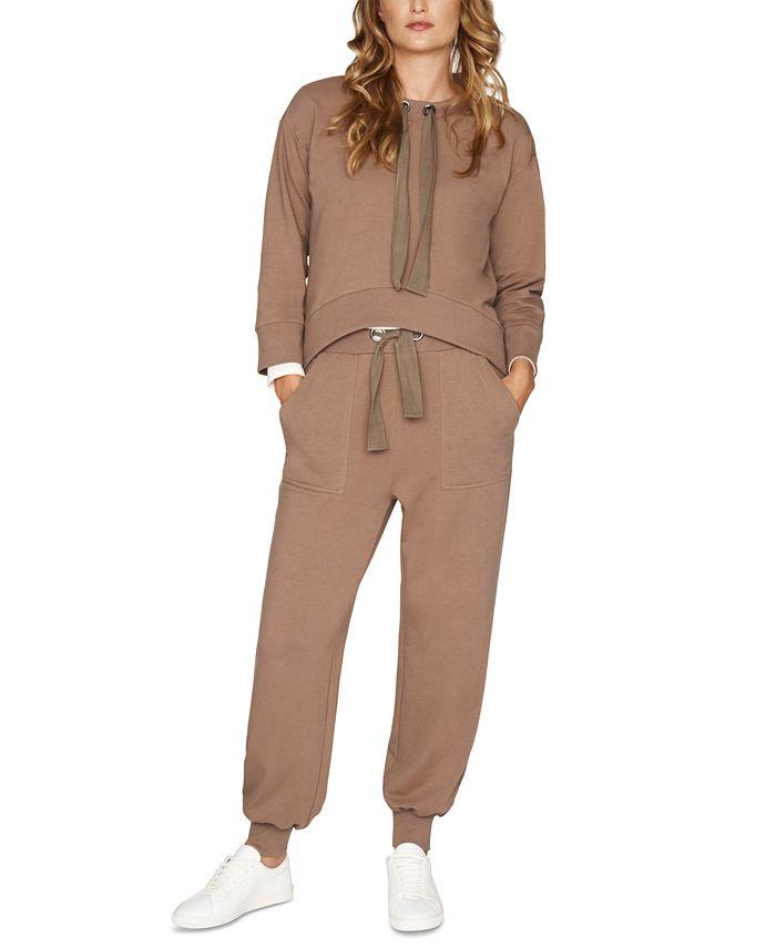 b new york - Drawstring-Neck Sweatshirt