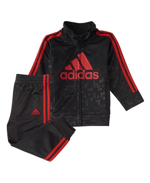 adidas Baby Boys Zip Front Core Code Jacket & Jogger Set