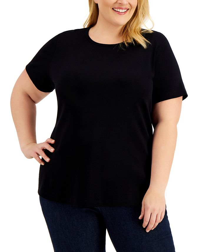 Karen Scott - Plus Size Cotton T-Shirt