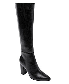 JANE AND THE SHOE Women's Fay Block-Heel Tall Dress Boots