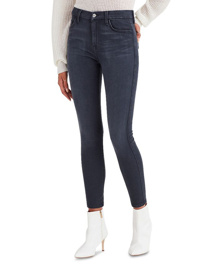 7 For All Mankind - High-Waist Skinny Jeans, Castle Grey Wash
